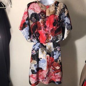"Liefsdotter ""Piranha"" print silk dress sz 6"